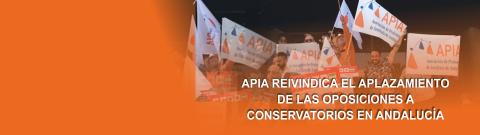 APIA invita a los profesores de Conservatorios andaluces a participar en todas las movilizaciones contra las oposiciones de 2017