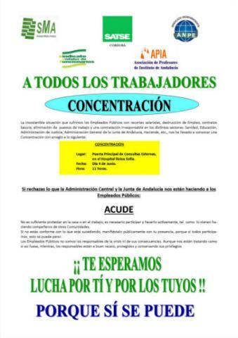 Concentración de funcionarios en Córdoba