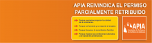 """APIA reivindica el """"permiso parcialmente retribuido"""""""