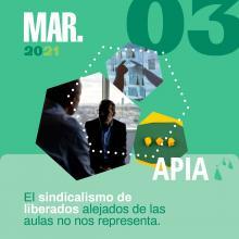 Los representantes sindicales de APIA tienen clase, como el resto del profesorado