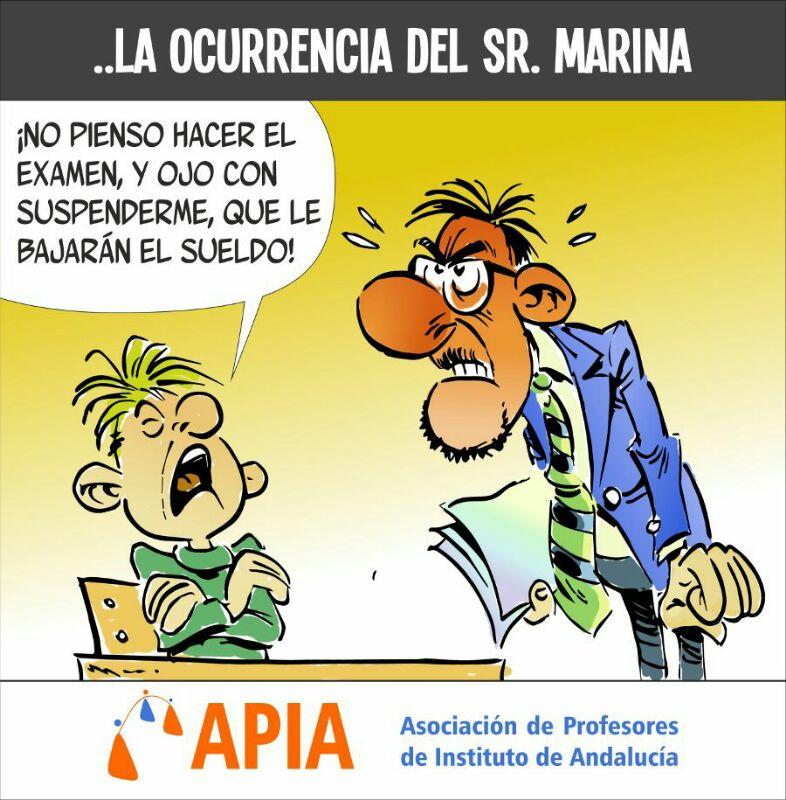 …la ocurrencia del sr. Marina
