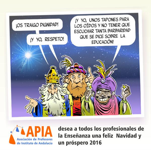 Desde APIA os deseamos una Feliz Navidad y un próspero (y reivindicativo) 2016